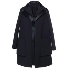Dice Kayek Oversized Pocket Coat (176.259.560 IDR) ❤ liked on Polyvore featuring outerwear, coats, collar coat and dice kayek