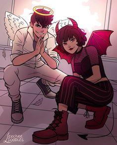 Anime Vs Cartoon, Girl Cartoon, Cute Cartoon, Cartoon Art, Angel Cartoon, Pretty Art, Cute Art, Kunstjournal Inspiration, Ppg And Rrb