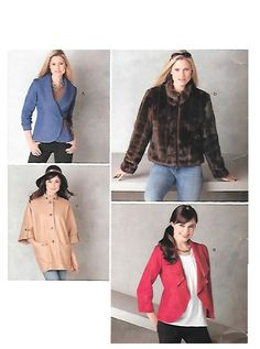 Your place to buy and sell all things handmade Sewing Projects, Sewing Ideas, Vintage Sewing Patterns, Contemporary Style, Perfect Fit, Faux Fur, Duster Coat, Casual Styles, How To Wear