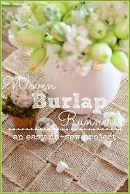 StoneGable: WOVEN BURLAP RUNNER DIY