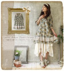 mobile site-free shipping!summer new arrival lace patchwork women cotton dress,women bohemian dress,women print dress