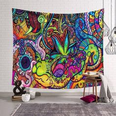 Psychedelic Slug Tapestry