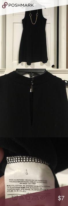 Black high neck sleeveless dress Super cute black high neck sleeveless dress. It has two small buttons in the back to close the neck. This is brand new without tags, from a smoke free home. Does not include necklace. Old Navy Dresses Midi
