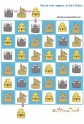Des jeux de suite logique à imprimer : jeux d'échecs Pattern Worksheet, Mandala, Kids Rugs, Holiday Decor, Princesses, Adhd, Toys, Spring, Flag Of Europe