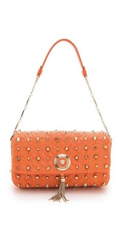 Versace Vanitas Bag with Studs - ShopStyle Shoulder 8943407fecc27