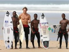 Three South African youths find salvation through surfing | GrindTV.com Sihle Mbutho, 20, Lucky Nozisali, 24, and Andile Zulu, 20, are all graduates of Umthombo, a nonprofit organization started in 1998 by British surfer and activist Tom Hewitt.  At Umthombo, homeless kids are welcomed off the streets with food, education, and counseling. But replacing the fast-paced, high-adrenaline lifestyle of the streets is difficult, which is where surfing comes in.