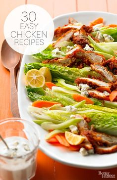 30 easy chicken recipes via BHG