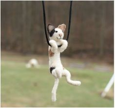 Tiny Swinging Felt Animal Jewelry by Motley Mutton    http://www.etsy.com/shop/motleymutton