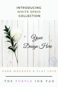 Oh, Iook what you found! The White Sprig Collection is perfect for any occasion. The White Sprig Collection is perfect for any occasion. It is fresh, simple, and seasonal. It has a look that can be a delight for your eyes in winter, spring, or summer. Ideal to use for showcasing your brand logo or product design in an effective and appealing way.  It features a white rustic wooden background designed with a green flower sprig and a white flower.Click below to check out the flat lay…