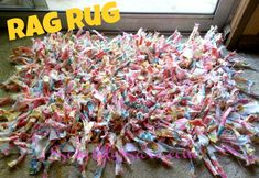 Love this unique #DIY Rag Rug from @Sara Phillips! #waverize