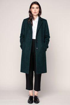 Manteau masculin texturé vert Vitalic - Clo&Se                                                                                                                                                                                 Plus