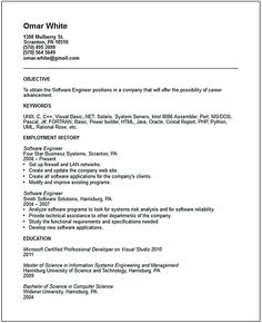 Software Engineering Resume Software Engineer Resume Includes Many Things About Your Skills