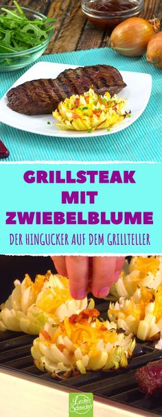 Hier wird es doppelt deftig dufte: Grillsteak mit Zwiebelblume. Keto Recipes With Bacon, Bacon Pasta Recipes, Bacon Recipes For Dinner, Mexican Chicken Recipes, Easy Brunch Recipes, Easter Dinner Recipes, Ground Beef Recipes Easy, Delicious Dinner Recipes, Food And Drink Quiz