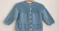 Rosabel knitted baby cardigan | the knitting space