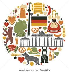Icons Of Germany in the form of a circle