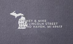 Return Address Stamp  State of Michigan  Personalized by Studio255, $25.00