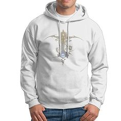Fabula Nova Crystallis Final Fantasy Mens Cotton Hooded Sweatshirt White >>> Read more reviews of the product by visiting the link on the image.(This is an Amazon affiliate link)