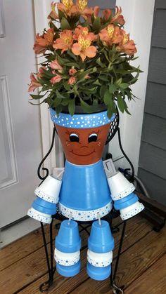 Flower Pot People / Pot Person Planter / by RusticMtnGirlCrafts