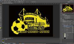 Bekenntnis zum BVB ... Design für Druck in PS erstellt ...