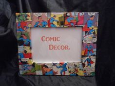Superman comicbook 5 by 7 picture frame by ComicDecor on Etsy, £10.00