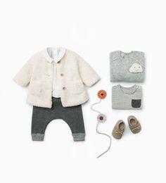 Zara Baby Contrasting Knit Trousers, Sleep Cloud Sleeper