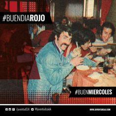 #BuenDiaRojo! #BuenMiercoles! 😈 Pavoni, Commisso y Pérez almorzando en la concentración de Independiente. Asia. 1975