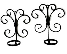 Wrought Iron Sconce Pair Scroll Art Candle Pot Holders Wall Art by EclecticVintager on Etsy
