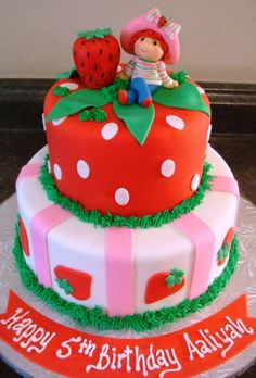 strawberry shortcake birthday cake   Touch Of Cake - Our Cakes
