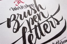 Workshop about Calligraphy&Lettering, Brush pen edition.