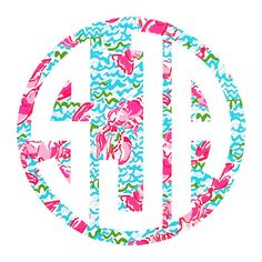 Lilly Pulitzer Inspired Filled Circle Monogram by TheGatorbug