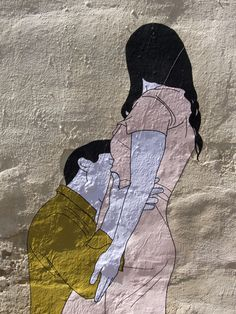 'Lovers' Street Art by Claire