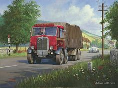 AEC Mammoth Major Mk II - GB Car Posters, Travel Posters, Vintage Trucks, Old Trucks, Old Pictures, Old Photos, Classic Trucks, Classic Cars, Transport Pictures