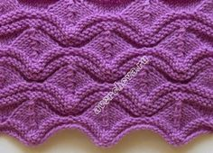 Knit ripples - in Russian but chart included.