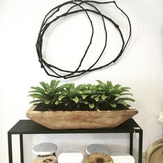 Black, organic vine wreath has just landed in store. Simple but oh so effective wall sculpture. A massive thank-you to for their wonderful feature on LuMu Interiors on their very cool. Vine Wreath, Wreaths, Small Retaining Wall, Forms Of Matter, Vine Wall, Photo Displays, Wall Sculptures, Plant Hanger, Container Gardening