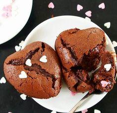 Fondant au chocolat sans beurre, sans huile et sans gluten - Mailo Fait Maison