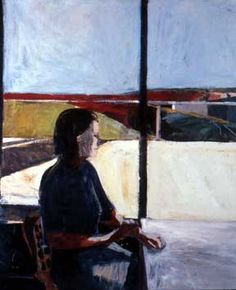 Woman in Profile / Richard Diebenkorn / 1958. Good way to introduce the idea of breaking up space