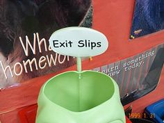 Ideas about how to use exit slips