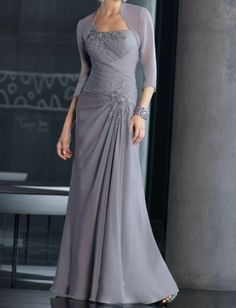 mother of the bride dress with free jacket