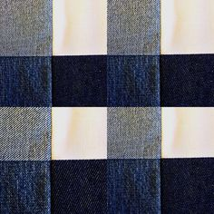 Toile patchwork Denim, simulation tartan.