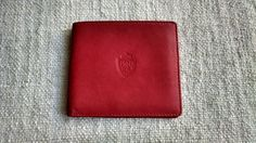 Wes Anderson FIlm Inspired Preppy Red Genuine Lambskin Leather Paolo Wallet by ENGARLAND on Etsy