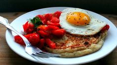 Masa Harina Corn Pancakes with Tomatoes, Peppers and Eggs - Makes 4 to 6 Servings