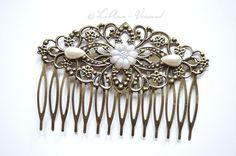 Haarkämme - ✿ Blumen Nostalgie ✿ Haarkamm - ein Designerstück von LiAnn-Versand bei DaWanda