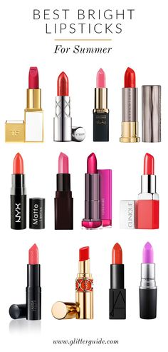 12 bright lipsticks our editors are loving this summer