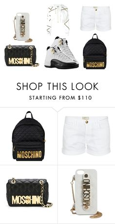 """Drop It x Trevor Jackson"" by queenswag245 ❤ liked on Polyvore featuring Moschino, Current/Elliott and Moschino Cheap & Chic"