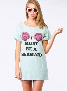 Mink Pink I must be a mermaid tee dress! online at www.tigermist.com.au