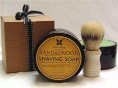 Sandalwood Shave Soap Shaving Soap with by SmithFamilySoapworks, $13.00