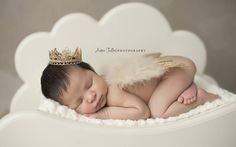 Gold Glitter Feather Wings Newborn Baby Photo Prop