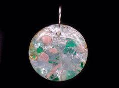 Orgonite® Pendant with Herkimer Diamond Rhodochrosite