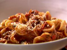 Weeknight Bolognese recipe from Ina Garten.