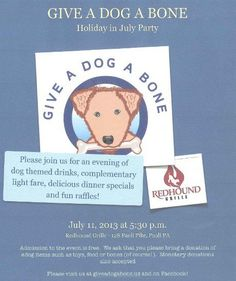 Awesome happy hour TOMORROW for Give a Dog a Bone in Paoli, PA